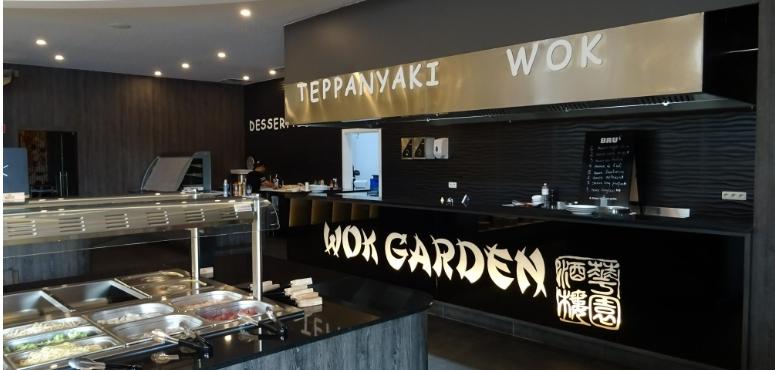 Bar teppanyaki wok